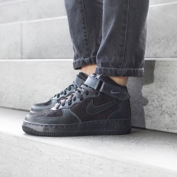 Nike Shoes Nwt Air Force 107 Mid Prm Arctic Black Wmns Poshmark